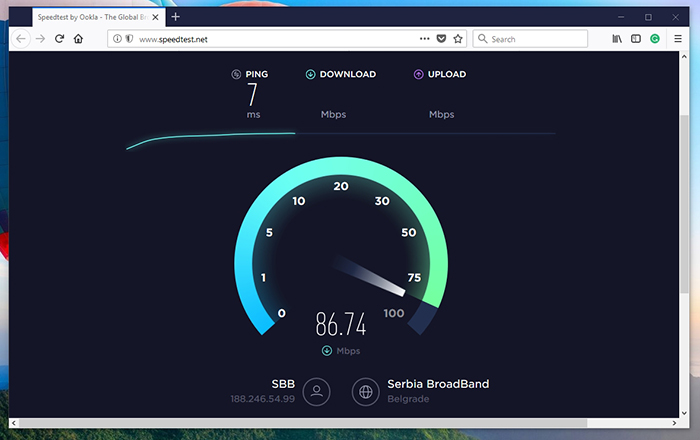 SpeedTest Progress