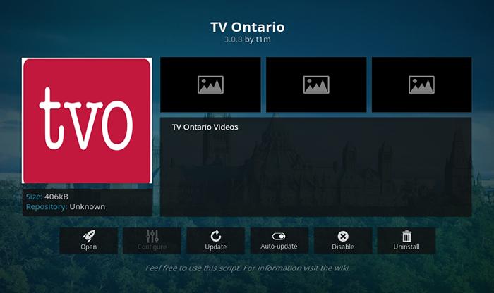 TV Ontario Kodi Addon