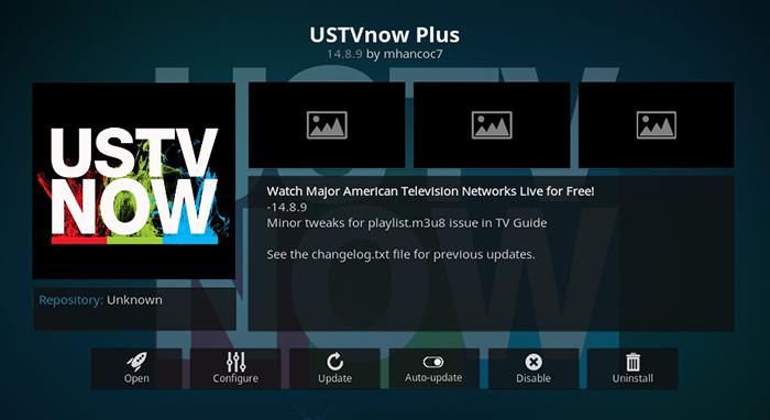 USTVNow Plus Kodi Addon