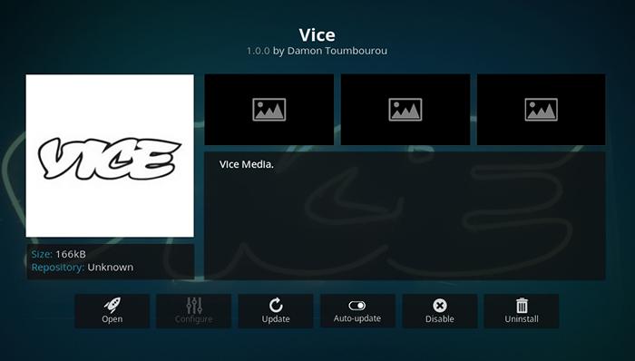 Vice Kodi Addon