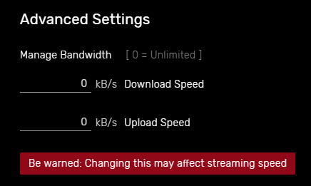 uTorrent Advanced settings