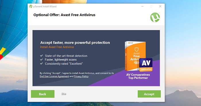 uTorrent Avast Bundle