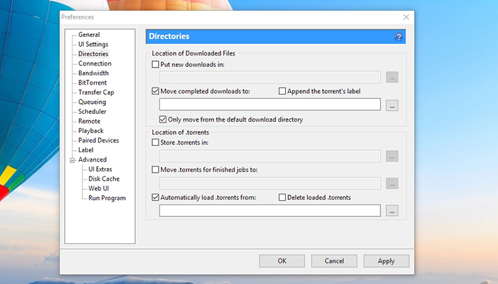 change utorrent download location mac