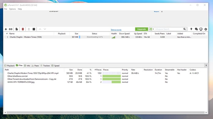 uTorrent File Download