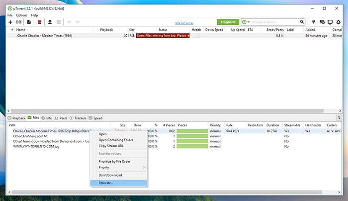 uTorrent File Relocate