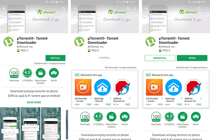 uTorrent Google Play Store