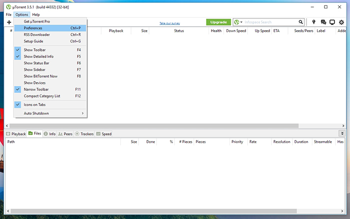 utorrent dht disabled stopped by user activity
