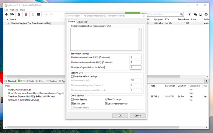 uTorrent Trackers Removal