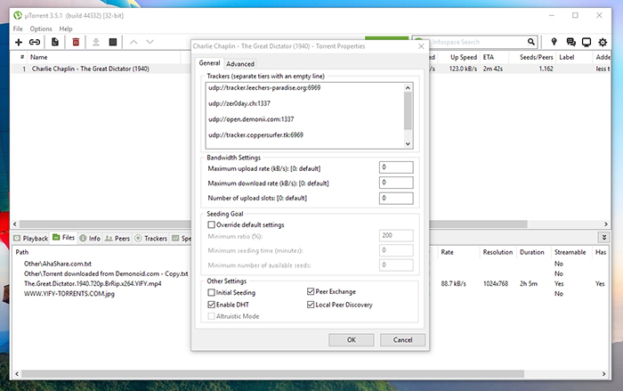 uTorrent Trackers