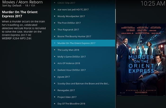 Atom Reborn Kodi Addon - New Releases
