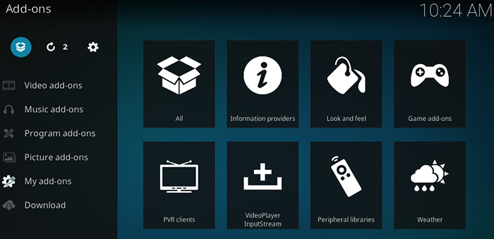 Atom Reborn Kodi Addon - Open Box Icon