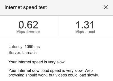 Cargo VPN Baseline Speed