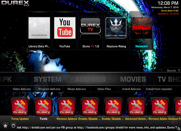 Durex Kodi Build -Addons