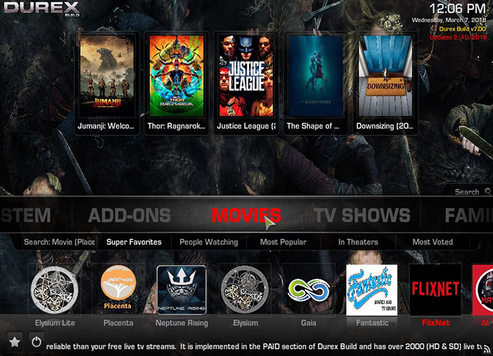Durex Kodi Build -Movies