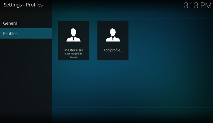 How to Setup Kodi Profiles - Add Profile