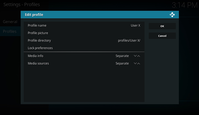 How to Setup Kodi Profiles - Edit Profile