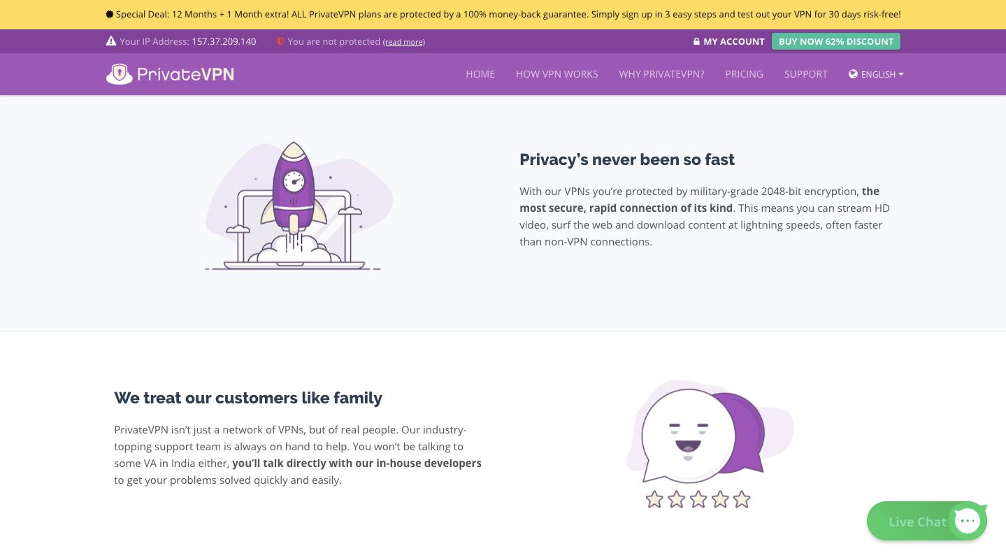 PrivateVPN Privacy