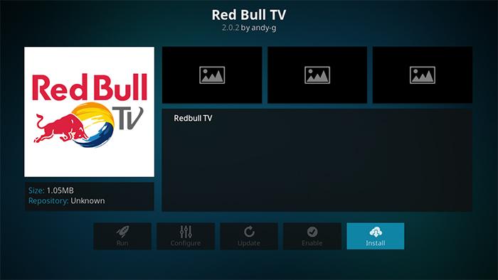Red Bull TV Kodi Addon - Install Overview