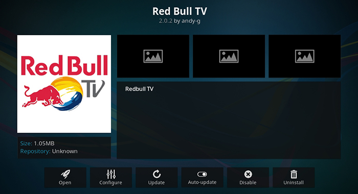 Red Bull TV Kodi Addon