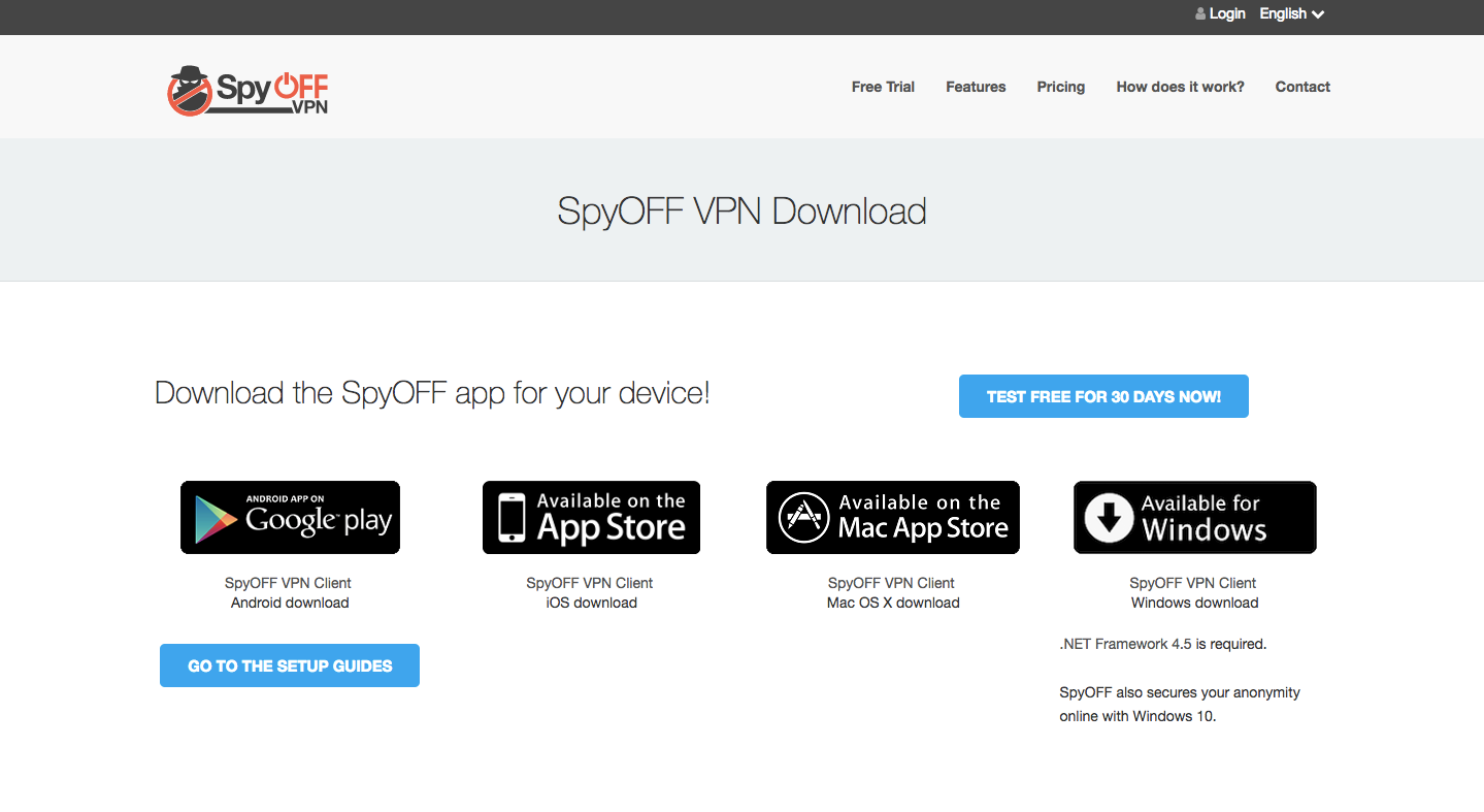 SpyOFF VPN Download Devices