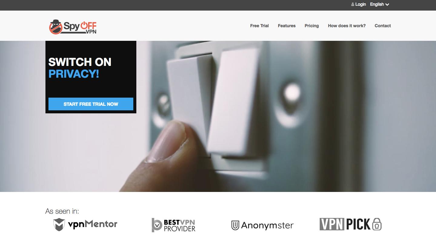 SpyOff VPN Website