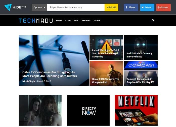 Technadu via Proxy