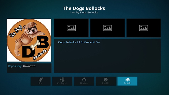 The Dogs Bollocks Kodi Addon - Installation Overview