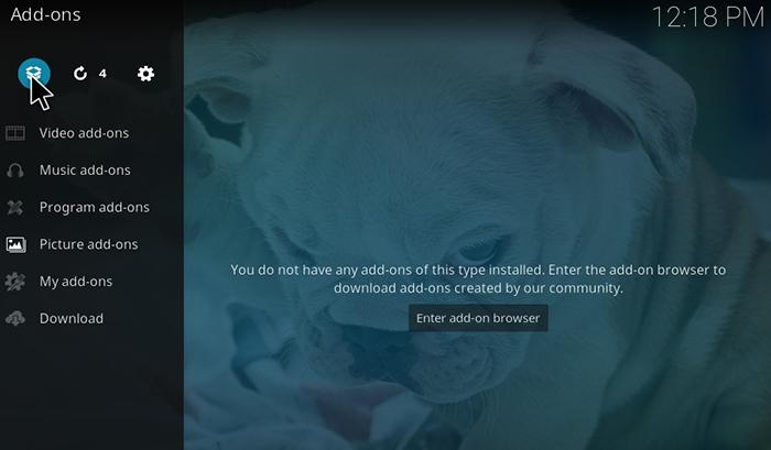 The Dogs Bollocks Kodi Addon - Open Box Icon