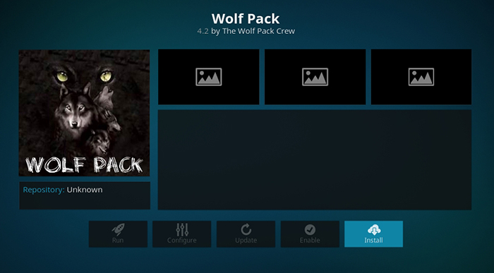 Wolf Pack Kodi Addon - Installation Overview