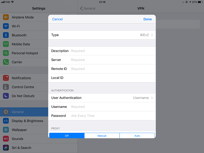 How to Setup and Configure VPN on iOS | TechNadu