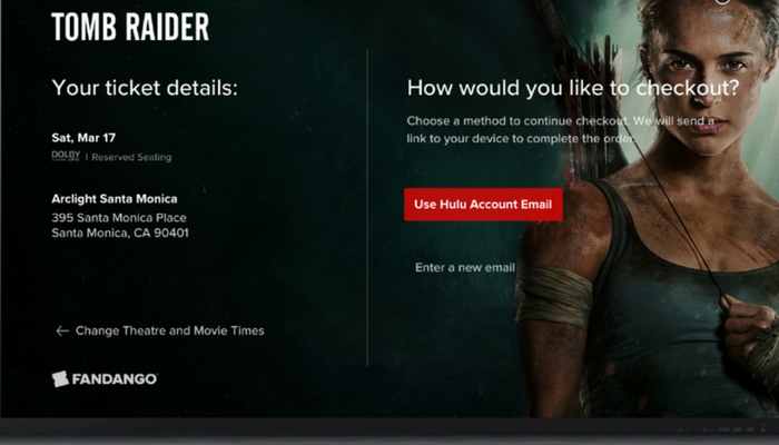 Buy Tomb Raider Tickets through Hulu ads