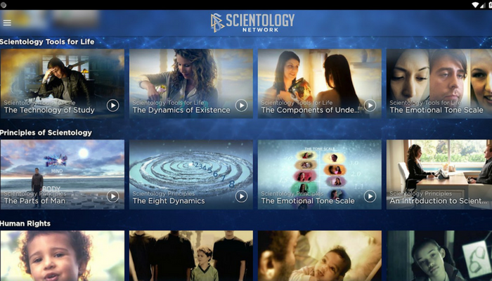 Scientology TV app