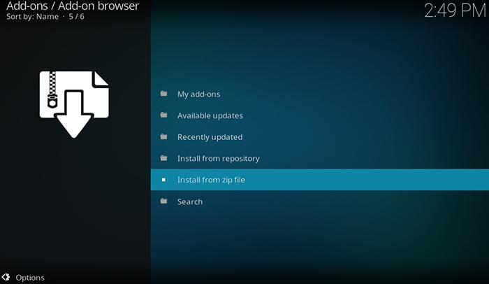 Exodus Kodi Addon - Install From ZIP File