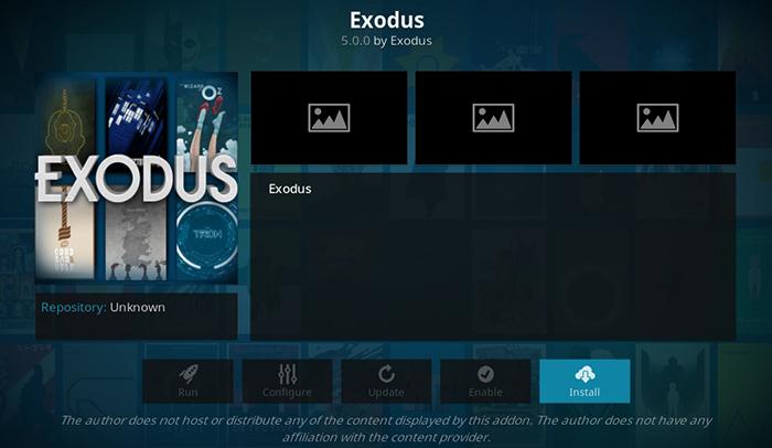 Exodus Kodi Addon - Install Overview
