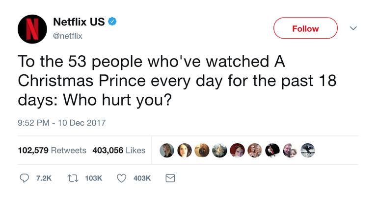 Netflix Tweet