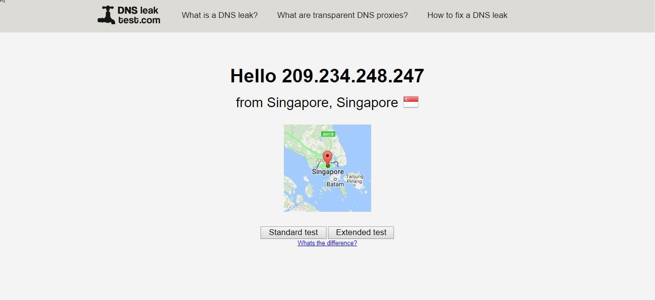 StrongVPN DNS Leak Test