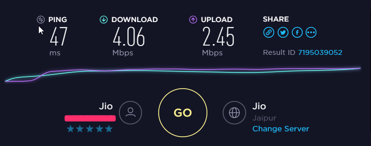 StrongVPN Speed Test Baseline