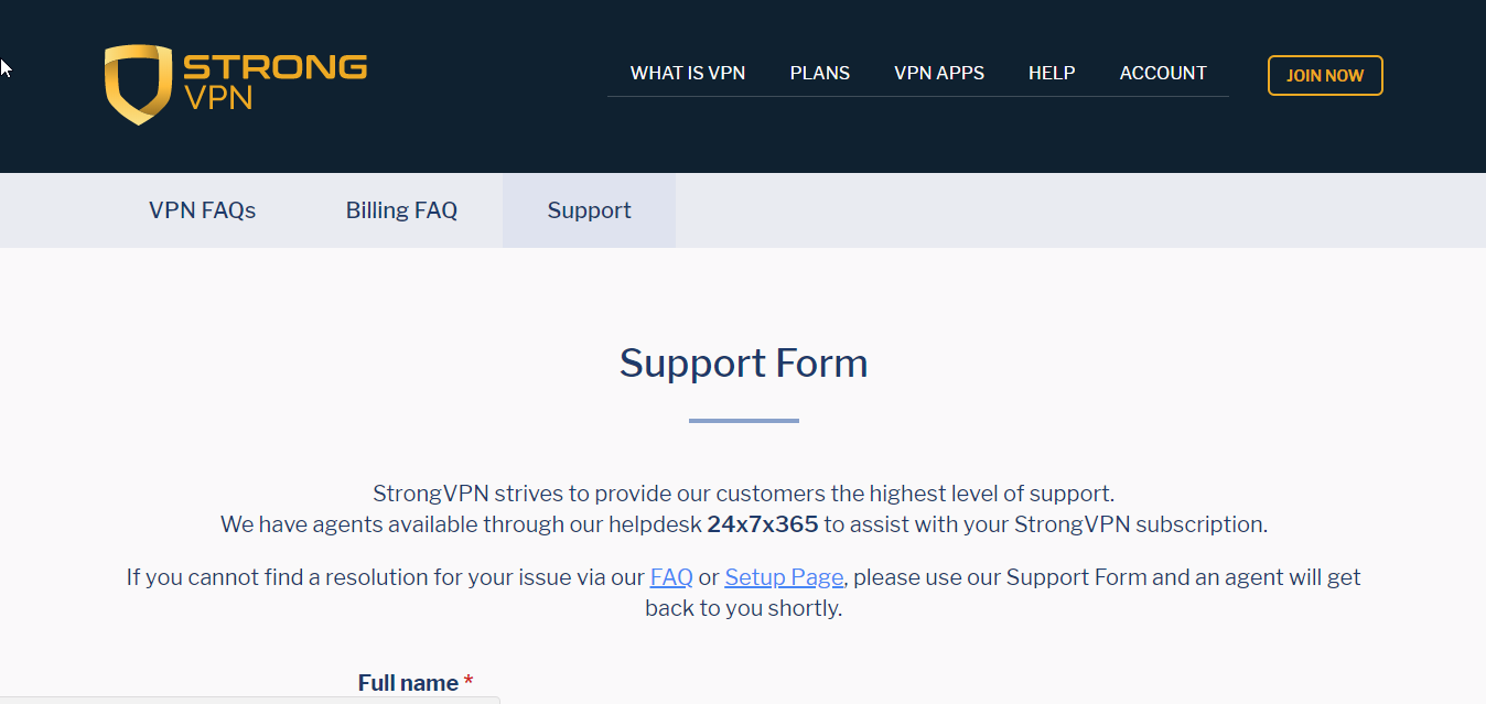 StrongVPN Support2