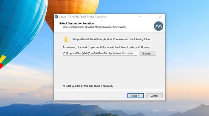 TuneFab Apple Music Converter - Installation Process 1