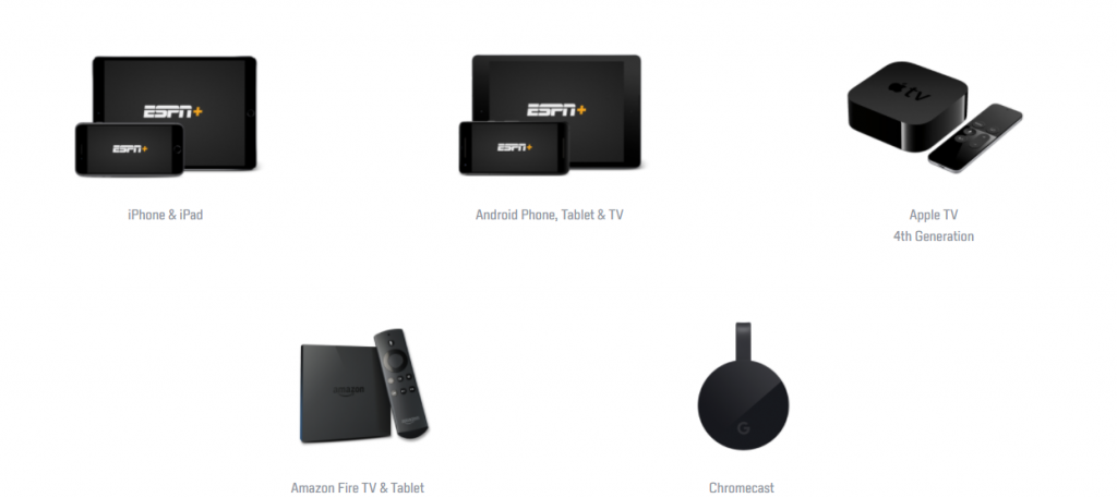 ESPN+ devices