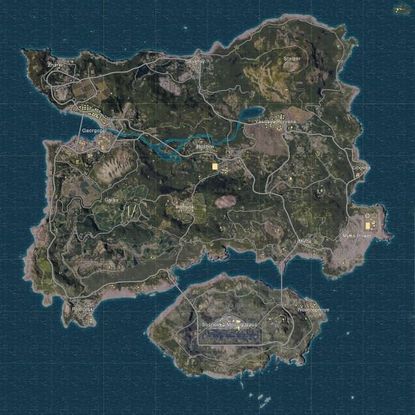 fortnite vs pubg map erangel