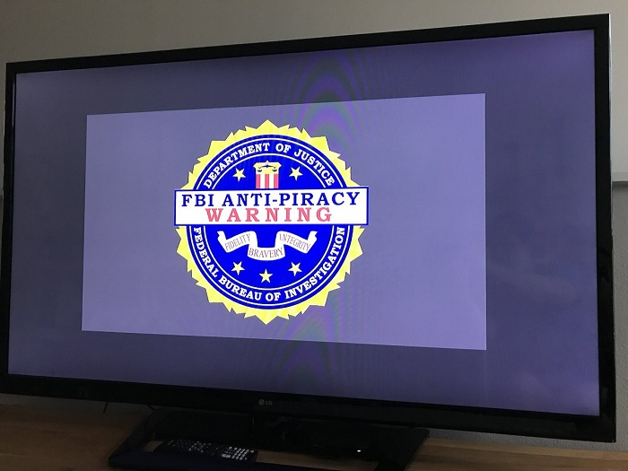 FBI anti-piracy warning message on roku tv
