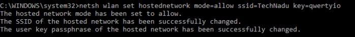 Hosted Network Setup