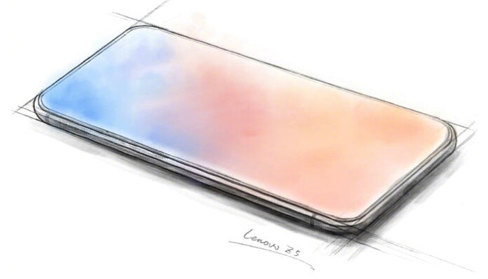 Lenovo Released Concept Sketch Showing Z5 Without Bezels And Notch