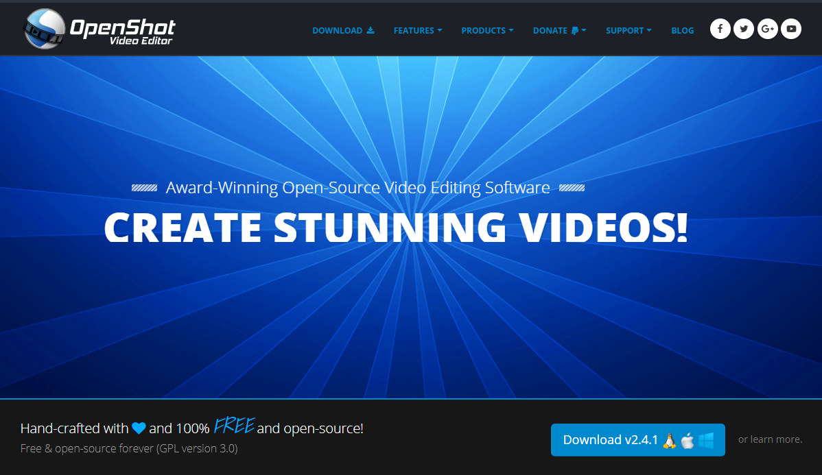 best open source video editing software 2018