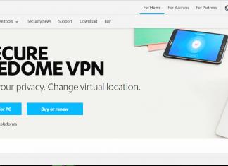 F-Secure FREEDOME VPN Homepge