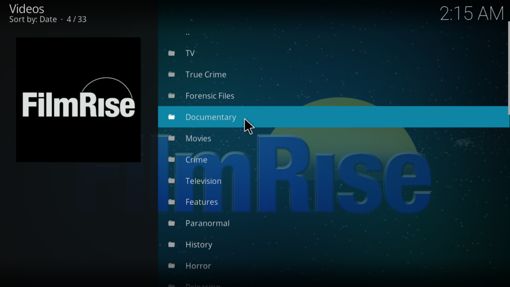 Filmrise Kodi Addon - What to expect