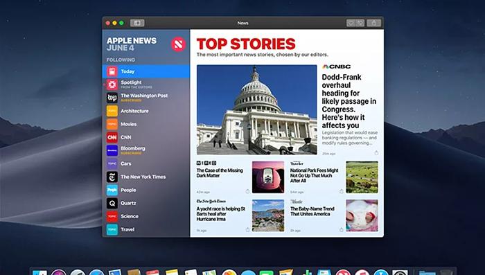 MacOS Mojave News App
