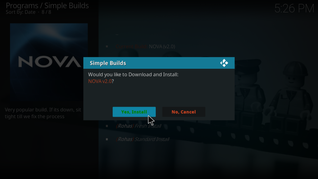 Nova Kodi Build - Install