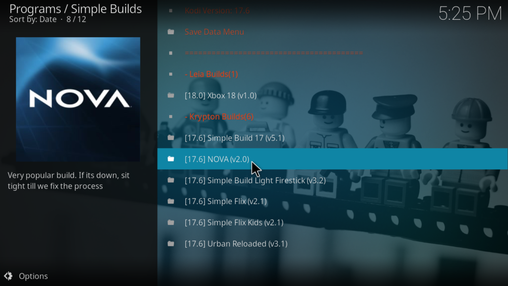 Nova Kodi Build - Nova 2.0